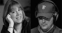 Poker Pros Kathy Liebert and Phil Hllmuth